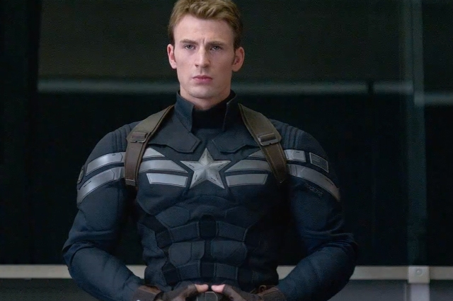Captain America (Steve Rodgers) finally gets a spiffy, non-garrish outfit in Captain America: The Winter Soldier. He will ditch it for an old garrish one during the film's climactic sequences. Photos courtesy Walt Disney Studios Motion Pictures.